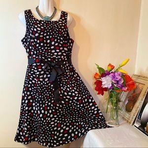 Studio I Polka Dot Fit and Flare Dress